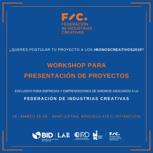 Bonos Creativos: invitan al workshop para postular proyectos