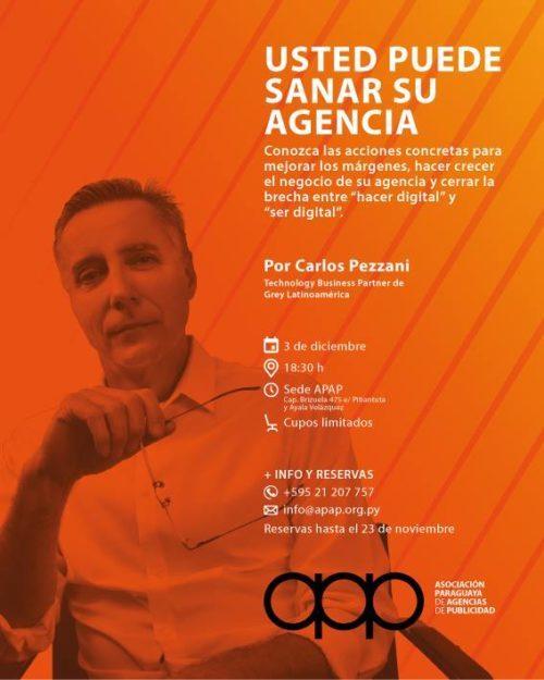 Carlos Pezzani expondrá en APAP sobre nuevas claves para dirigir una agencia de publicidad más rentable y eficiente