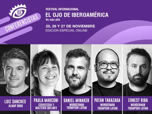 Luiz Sanches, Paula Marconi, Daniel Minaker, Patán Tarazaga  y Ernest Riba llegan a El Ojo 2020